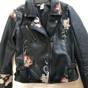 Chelsea Violet Leather Moto Jacket